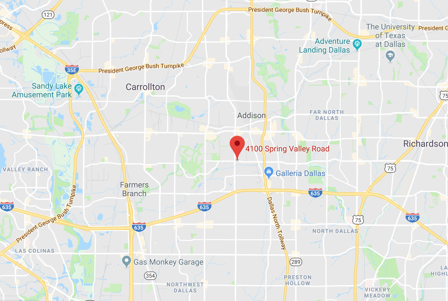 4100 Spring valley Rd Dallas TX 75244